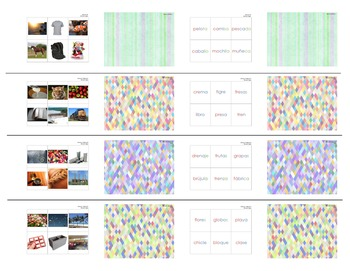 Memoria Fonética –Spanish Phonics-Based Memory Game, Set of 9