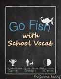 Memory/Go Fish Cards with Realidades 2B School Vocab