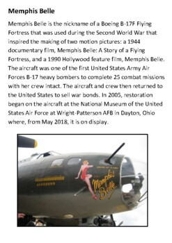 Memphis Belle Handout with activities