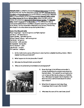 Memphis Belle Video Worksheet