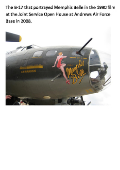 Memphis Belle World War Two Word Search