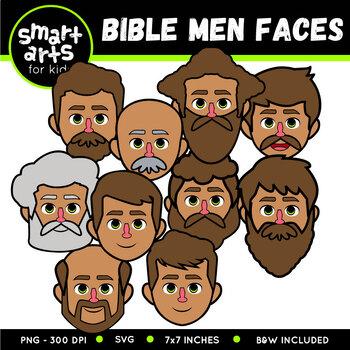 Bible Men Faces Clip Art