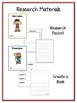 Men Greek Mythology Research Project -12 Vocab Cards, Packet, Book & More