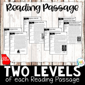 Turn of the Century: Reading & Writing Activity (SS5H1, SS5H1b)
