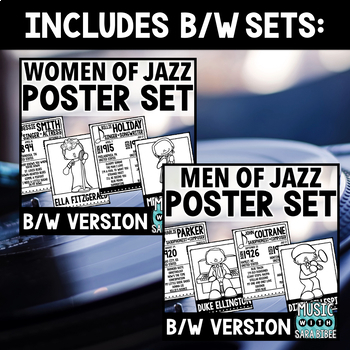 Men and Women of Jazz - Posters and Handouts {Color and B/W MEGA Bundle}