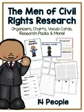 Men in Civil Rights Research Project -14 People Vocab Cards Packet Book & More