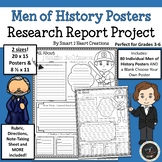 Men of History Biography Research Posters - Research Report Project