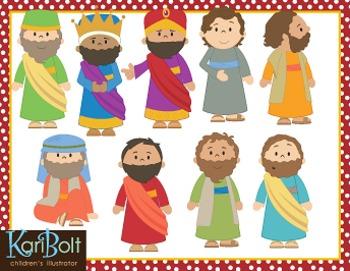 Men of the Bible Clip Art