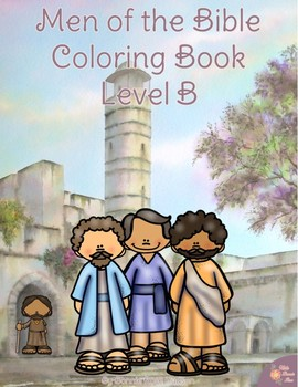 Men of the Bible Coloring Book-Level B
