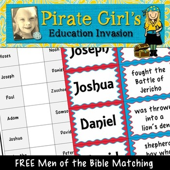 Men of the Bible Matching Game