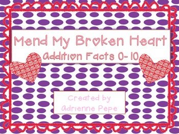 Mend My Broken Heart: Addition Fact Puzzles
