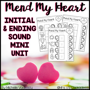 Valentines Day No Prep Worksheet Beginning Ending Sounds With