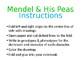 Mendel & His Peas Foldable -Editable PowerPoint