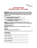 Mendelian Genetics - PTC Testing Lab