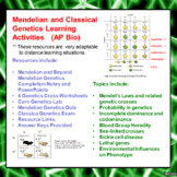 Mendelian/Beyond Mendelian Genetics Learning Package for AP/Advanced Biology