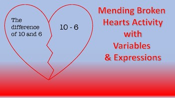 Mending Broken Hearts with Variables & Expressions