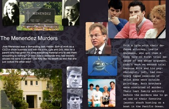 Menendez Brothers Murders ~ FREE POSTER