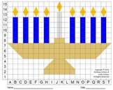 Menorah (Color Grid), Chanukah, Mystery Picture