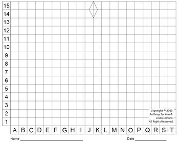 Menorah (Color Grid), Chanukah, Mystery Picture