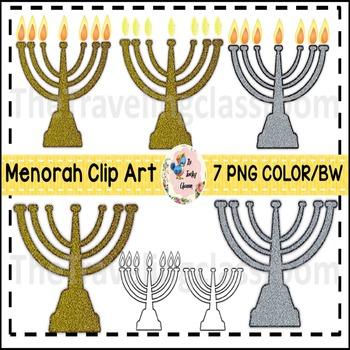 Menorah Hanukkah Jewish Clip Art (Commercial Use)