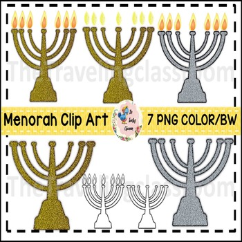 Menorah Hanukkah Jewish Clip Art (Commercial Use)