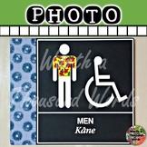 Men's Bathroom Sign (Hawaiian)