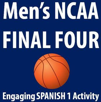 Spanish - Men's NCAA Tournament 2014 FINAL FOUR - Fun worksheet!