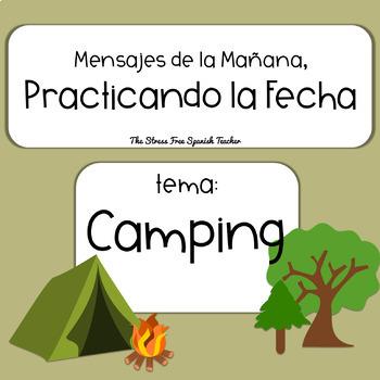 Mensajes de la Manana / La FECHA /  Camping Theme PowerPoint