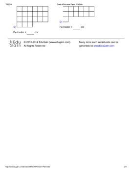 Mensuration Worksheet 1 - Perimeter