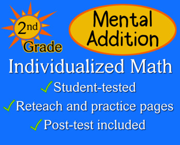 Mental Addition, 2nd grade - Individualized Math - worksheets