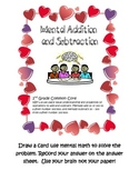 Mental Addition and Subtraction Common Core- Valentines