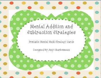 Mental Addition and Subtraction Strategy Sheets