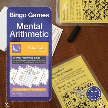 Negative Numbers Mental Arithmetic Bingo