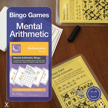 Negative Numbers Mental Arithmetic Bingo