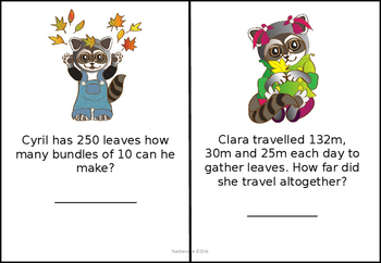Mental Arithmetic Task Cards