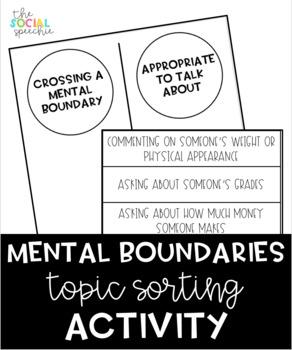 Mental Boundaries Topic Sorting Activity