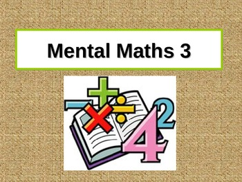 Mental Computation PowerPoint 3 for Grades 3-4