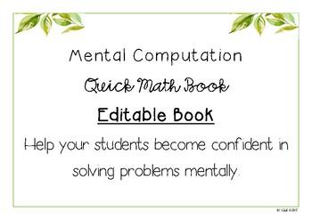 Mental Computation Quick Math Book
