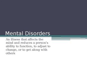 Mental Disorder Slide Show