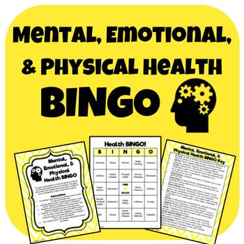 Mental, Emotional, and Physical Health BINGO