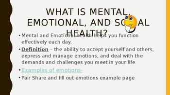 Mental, Emotional, and Social Health