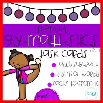 Mental Gy-MATH-stics - Task Cards - Set 1 (B & W and LOW PREP!)