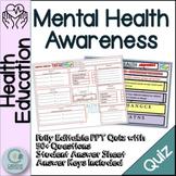 Mental Health Awareness - Character Education