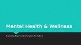 Mental Health Awareness: information for students