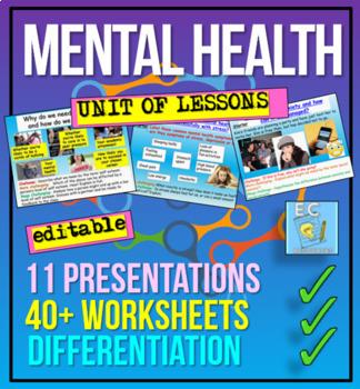 Mental Health 10 Lesson Bundle