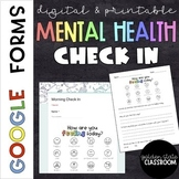 Mental Health Check In  |  Google Forms  |  Distance Learning