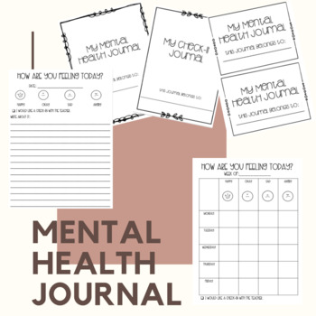 Mental Health Check In Journal