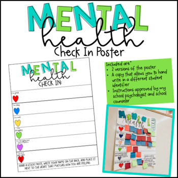 Mental Health Check In Poster