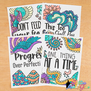 Mental Health Coloring Pages for Kids and Teachers: 8 ...