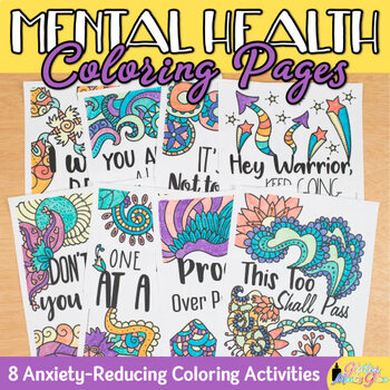 Mental Health Coloring Pages: 8 Exciting Designs to Color